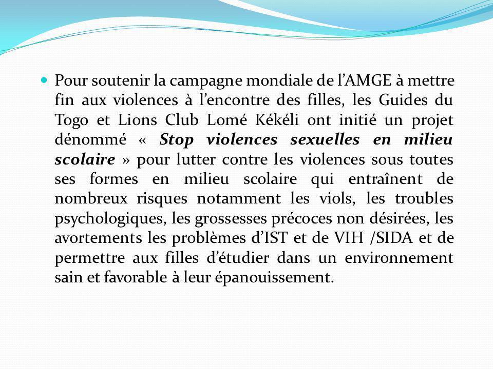 Les Guides Du Togo En Campagne Contre Les Violences
