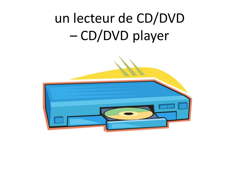 un lecteur de CD/DVD – CD/DVD player