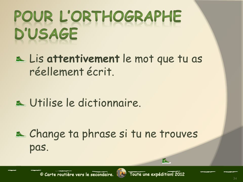 Pour l'orthographe d'usage