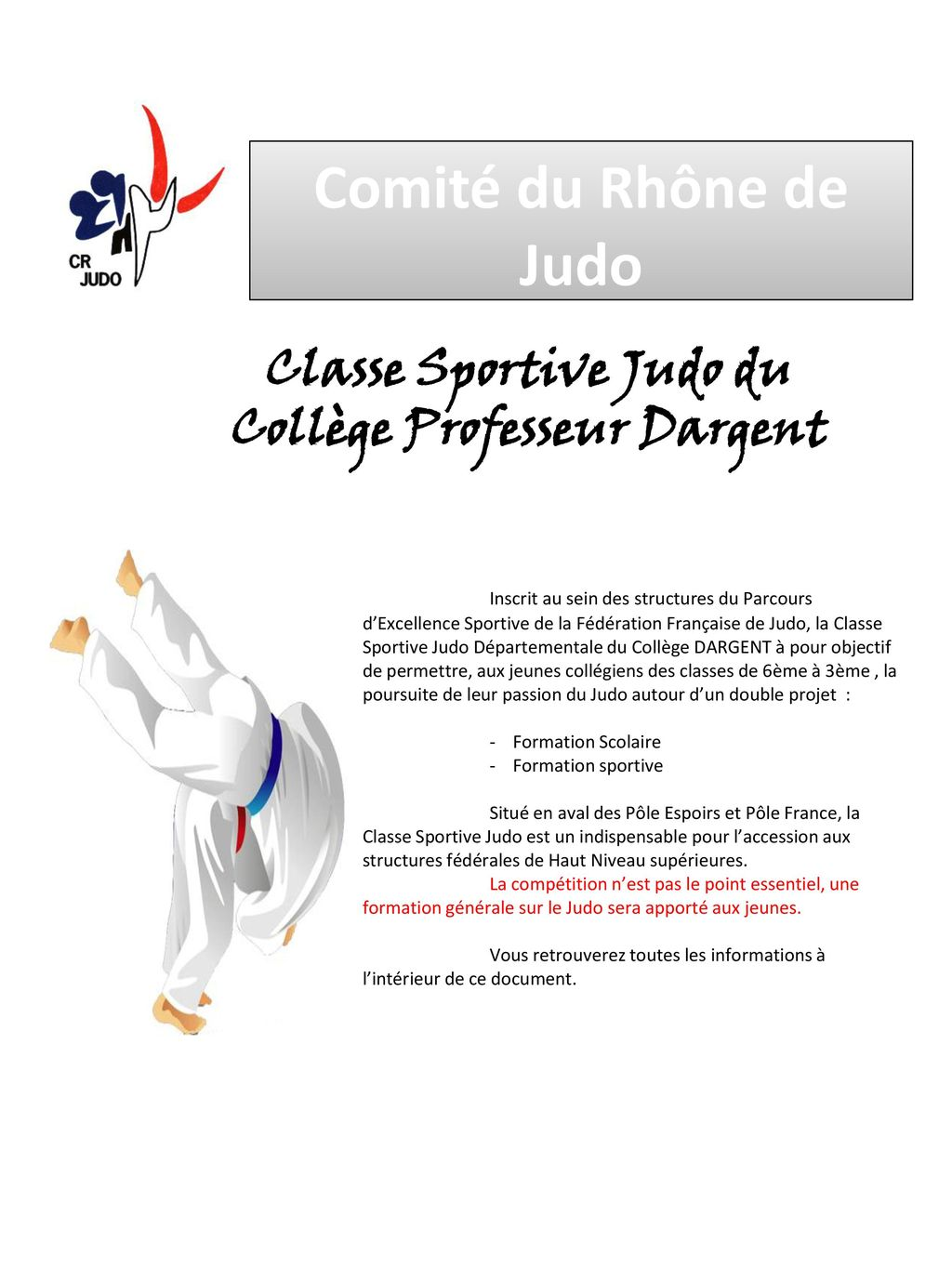 lettre de motivation section sportive
