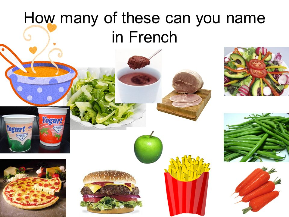How many of these can you name in French