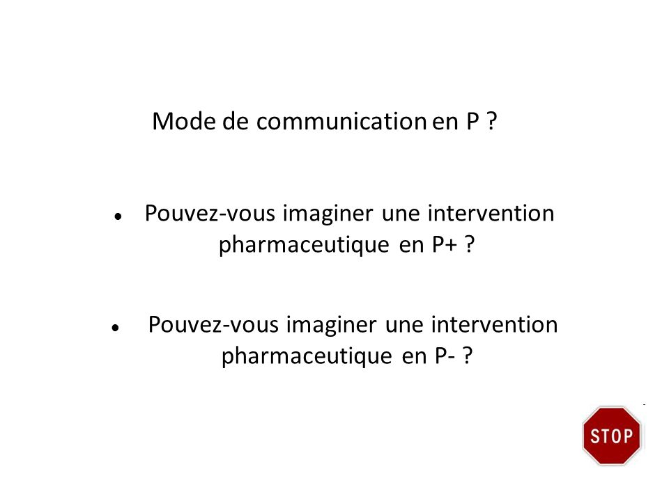 Mode de communication en P