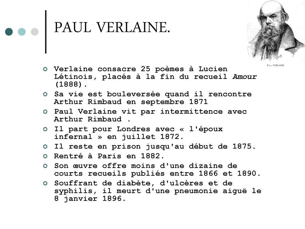 Vous Avez Cherché Poeme Arthur Rimbaud Pour Verlaine Arts