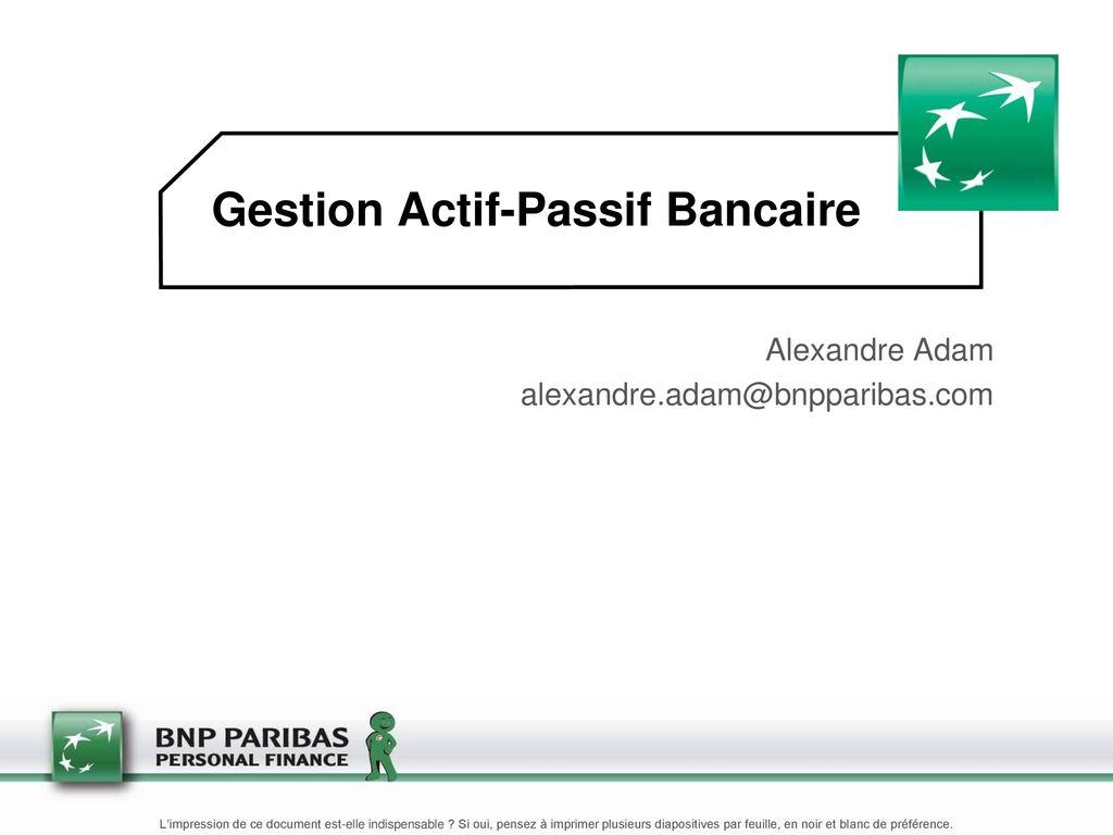 fondamentaux de la gestion actif passif pdf