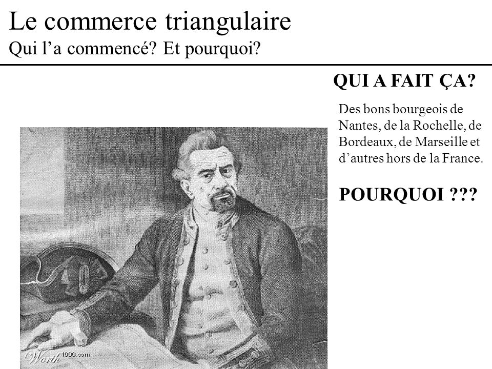 Le commerce triangulaire