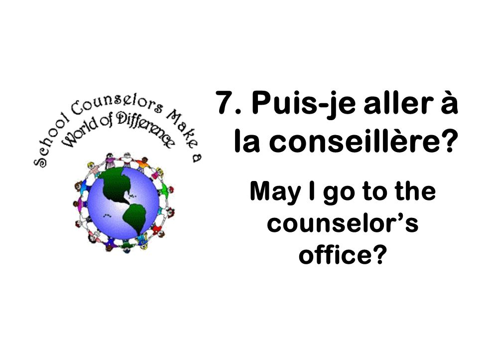 May I go to the counselor's office