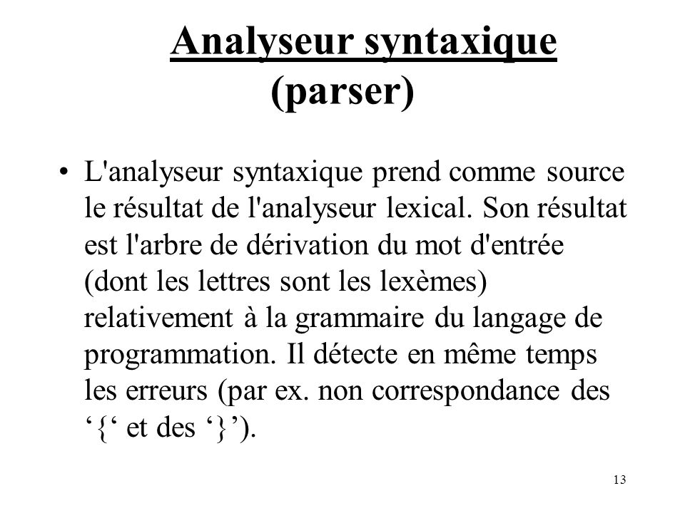 Analyseur syntaxique (parser)
