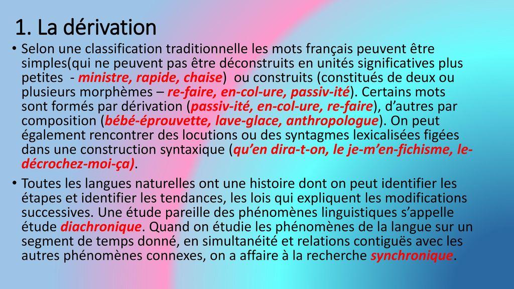 introduction a la lexicologie ne