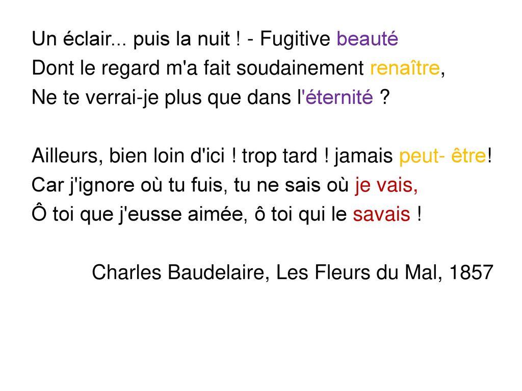 A Une Passante De Charles Baudelaire Ppt Télécharger