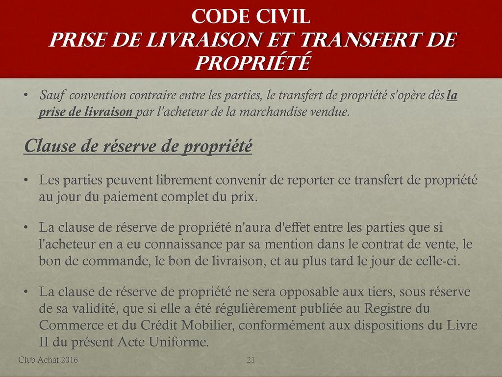 La Reforme Du Droit Des Obligations Club Achat Picardie Promeo Ppt