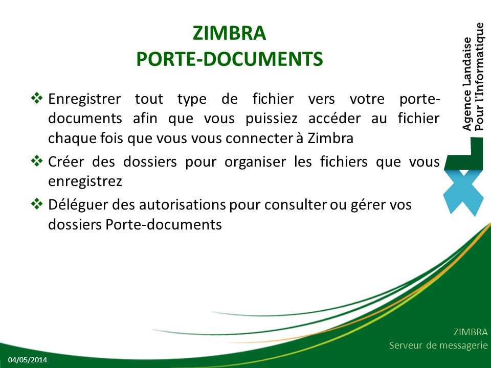ZIMBRA PORTE-DOCUMENTS
