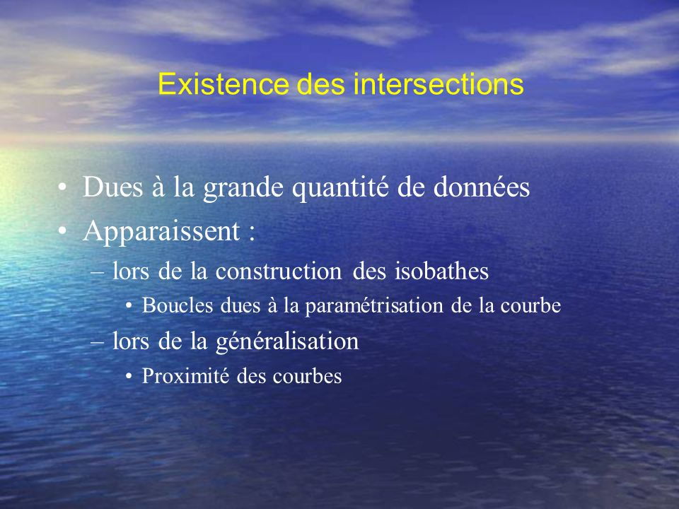 Existence des intersections