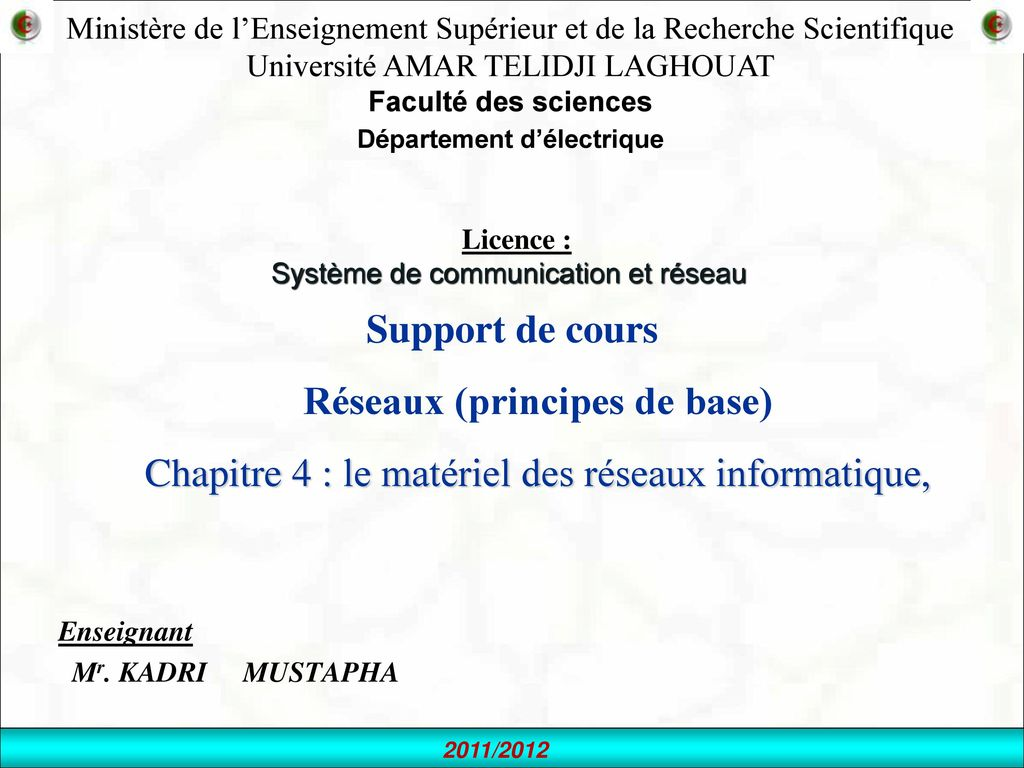 Enseignant Mr. KADRI MUSTAPHA