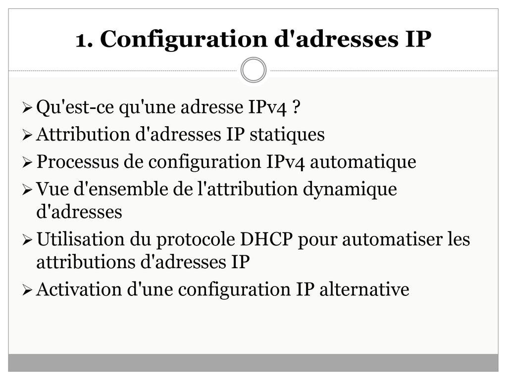 Module S41 Chapitre8 Configuration De L Adressage Tcp Ip Et De La