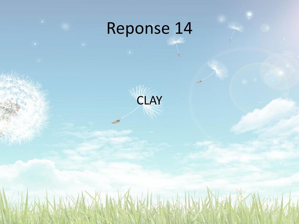 Reponse 14 CLAY