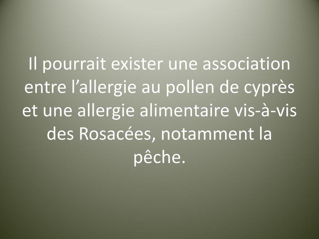 allergie aux cyprès