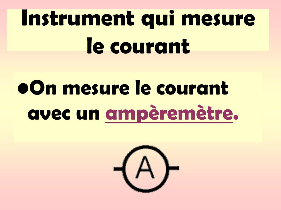 Instrument qui mesure le courant