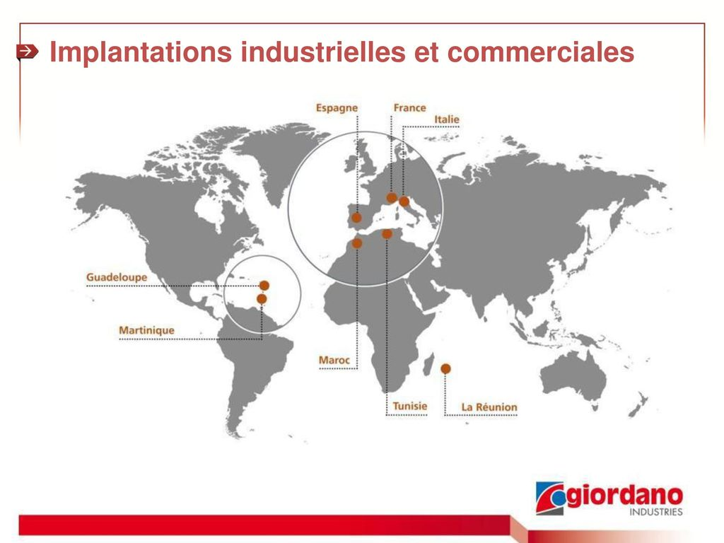 Implantations industrielles et commerciales