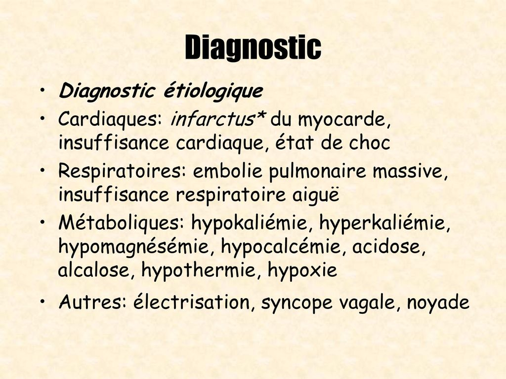 Diagnostic Diagnostic étiologique