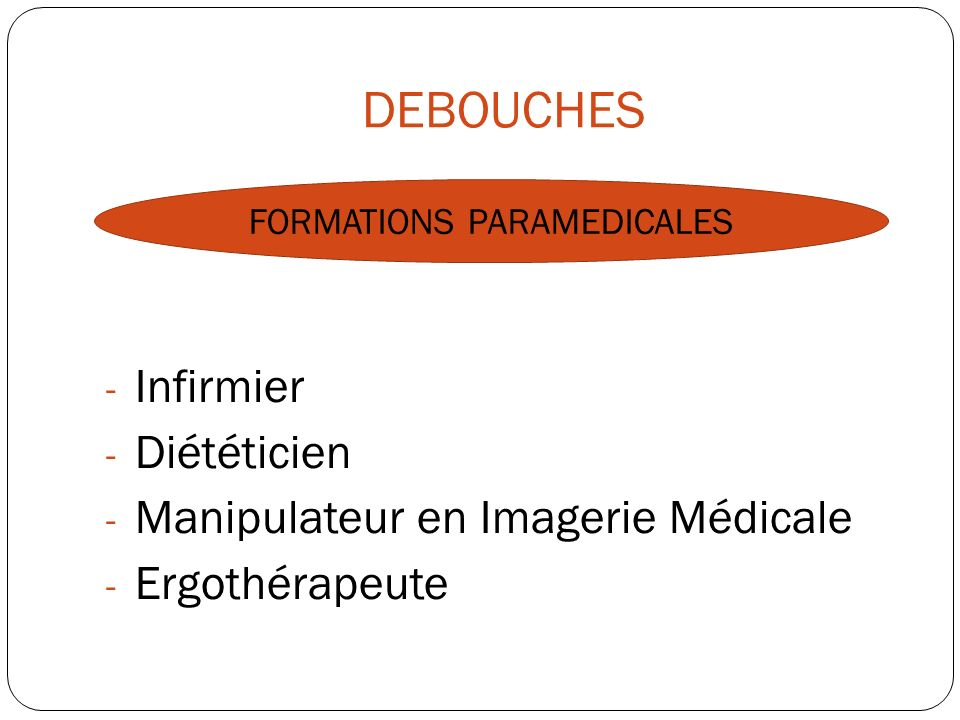 FORMATIONS PARAMEDICALES