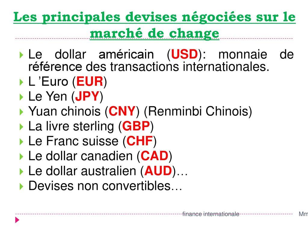 dollar monnaie de référence