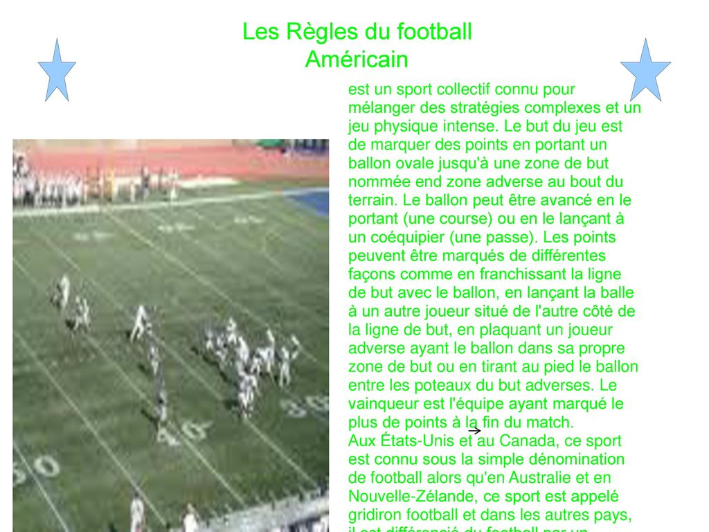 Voici Le Football Americain Ppt Telecharger