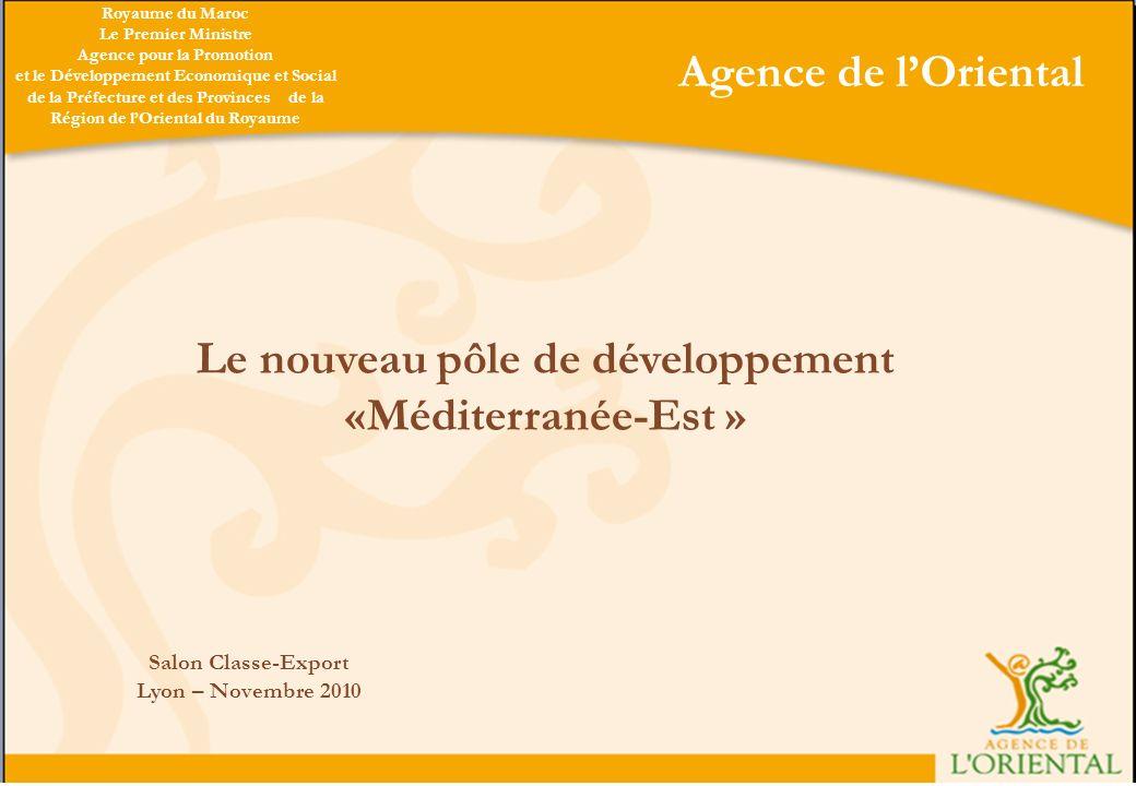 Le nouveau pôle de développement «Méditerranée-Est »