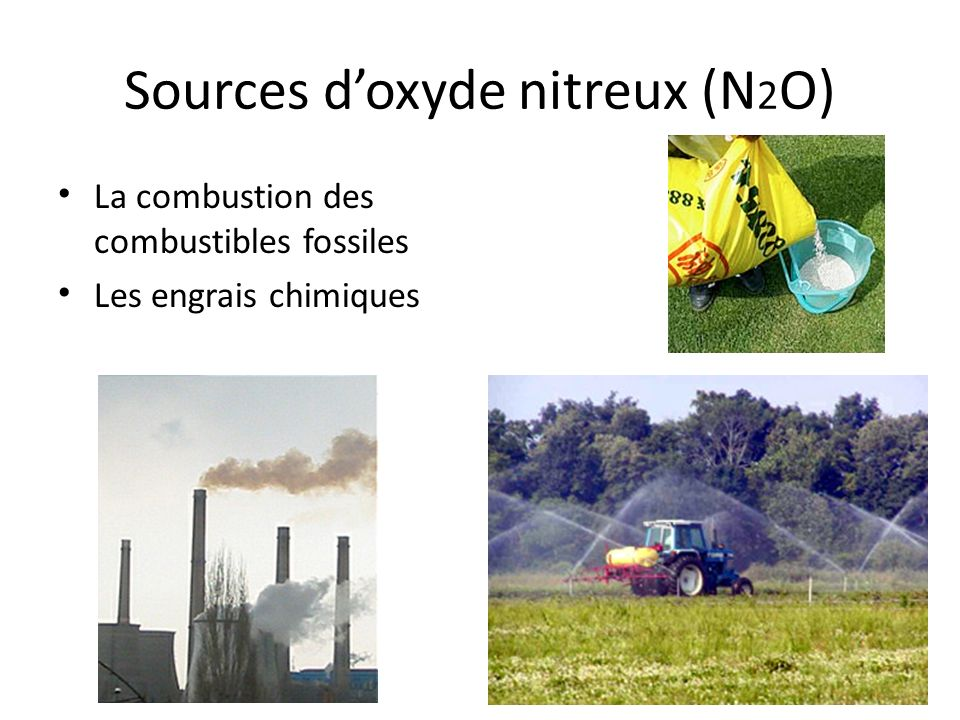 Sources d'oxyde nitreux (N2O)