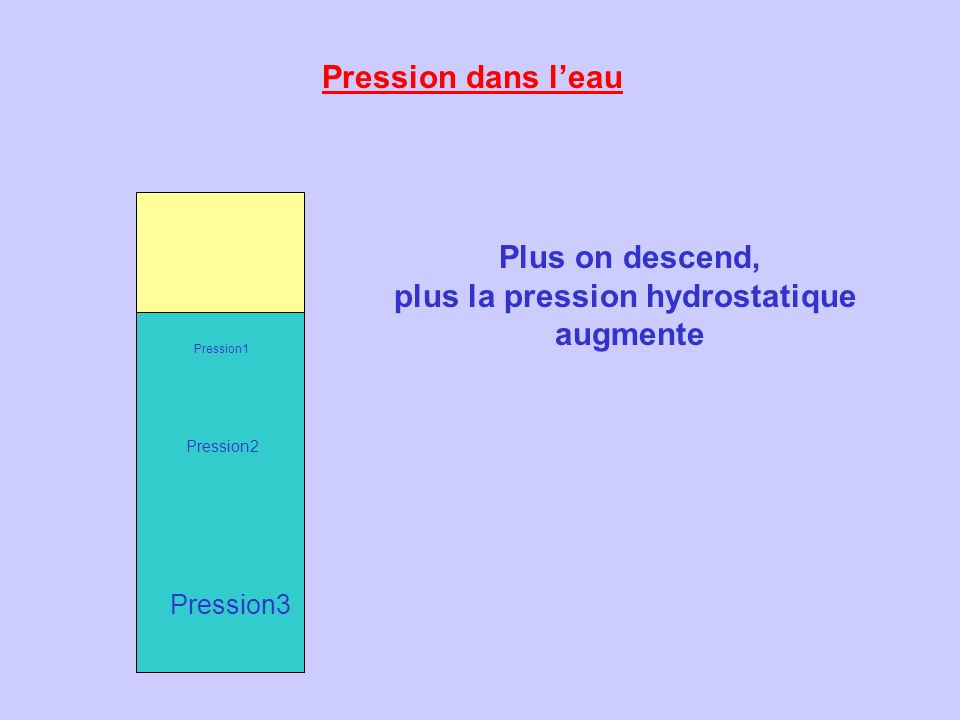 plus la pression hydrostatique