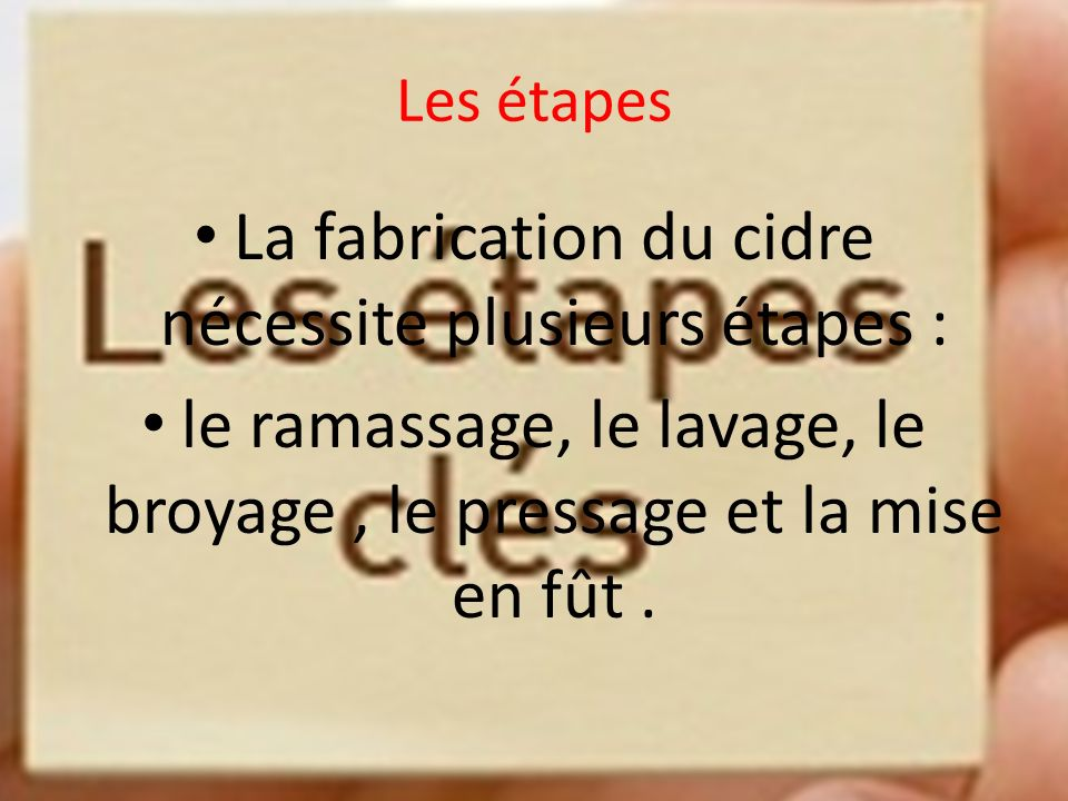 le cidre plan introduction d finition les tapes ppt video online t l charger. Black Bedroom Furniture Sets. Home Design Ideas
