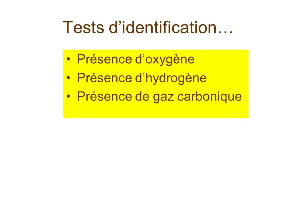 Tests d'identification…