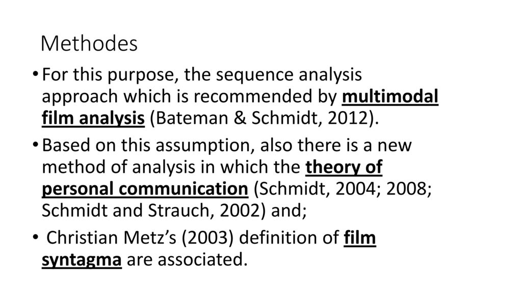 multimodal semiotic analysis as a methodology We look at some multimodal transcripts produced in conversation analysis, discourse analysis, social semiotics and micro-ethnography, drawing attention to the meaning-making principles applied by the transcribers international journal of social research methodology 14, 3, 191-207.