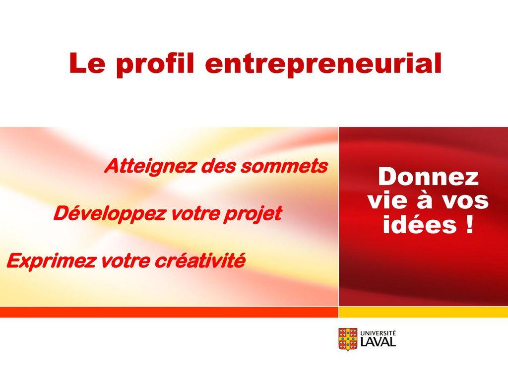 Idée De Photo De Profil le profil entrepreneurial - ppt télécharger