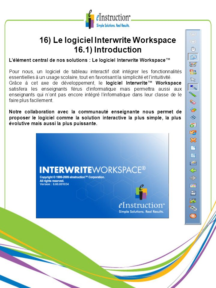 le logiciel interwrite workspace