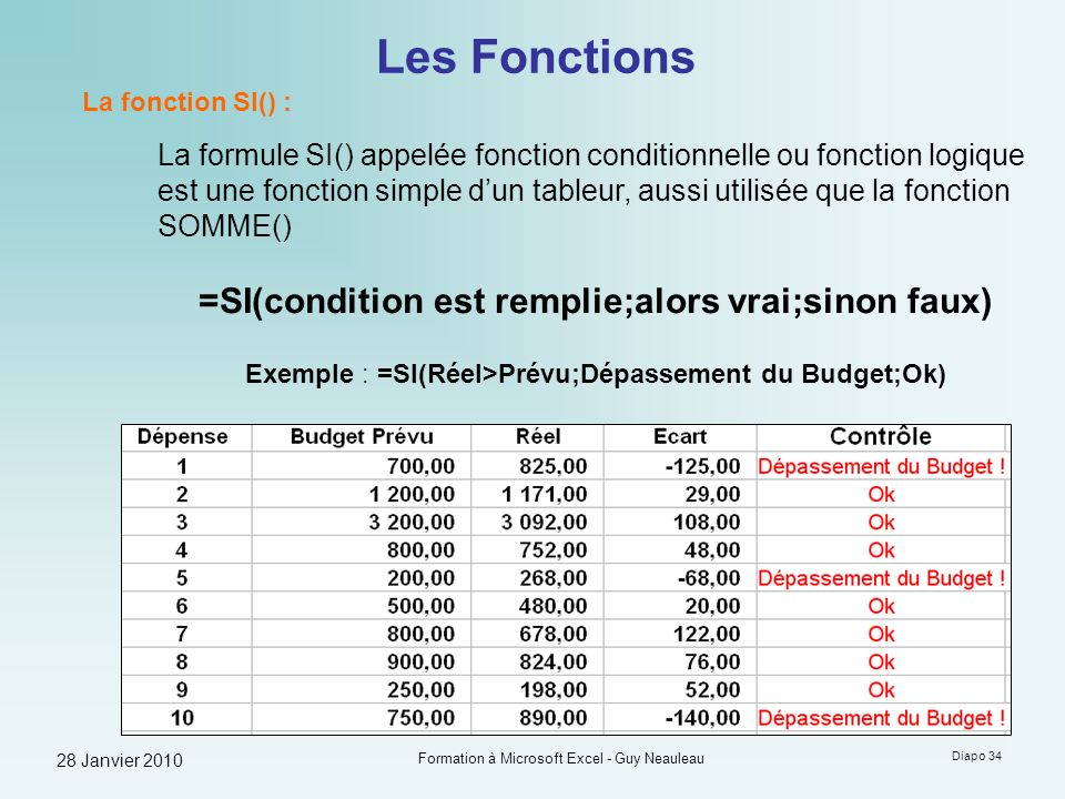 Formation A Microsoft Excel Guy Neauleau Ppt Telecharger