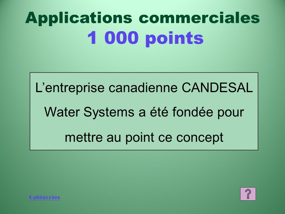 Applications commerciales points