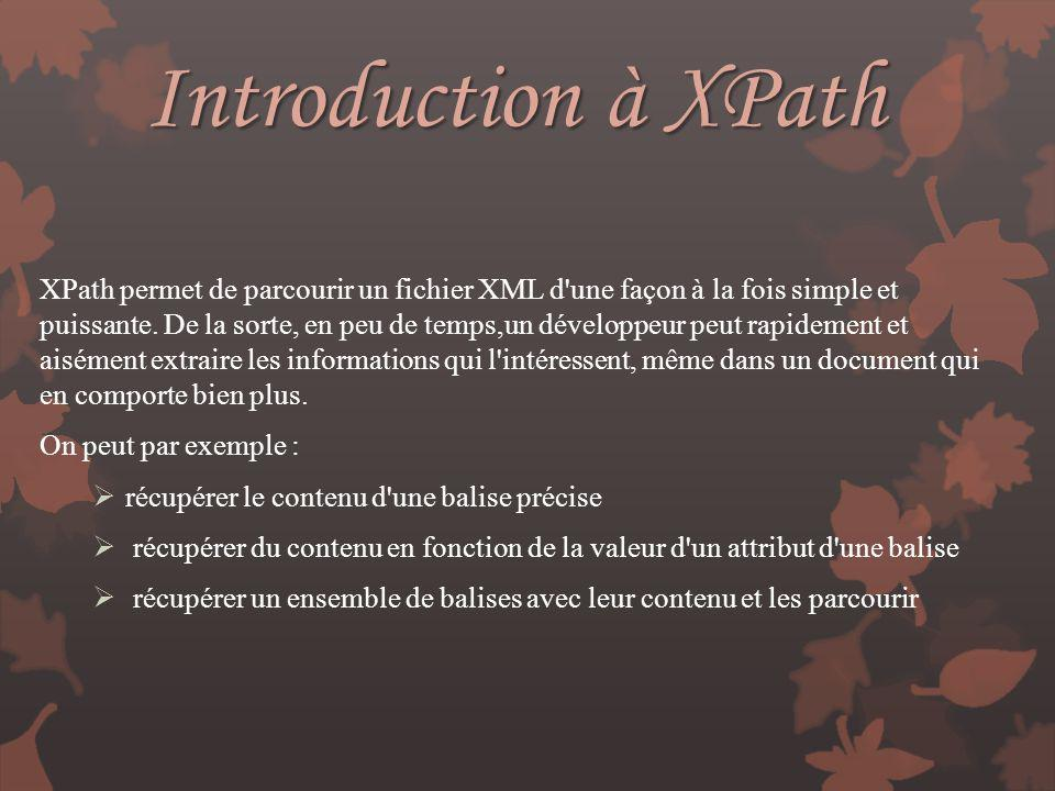 Introduction à XPath