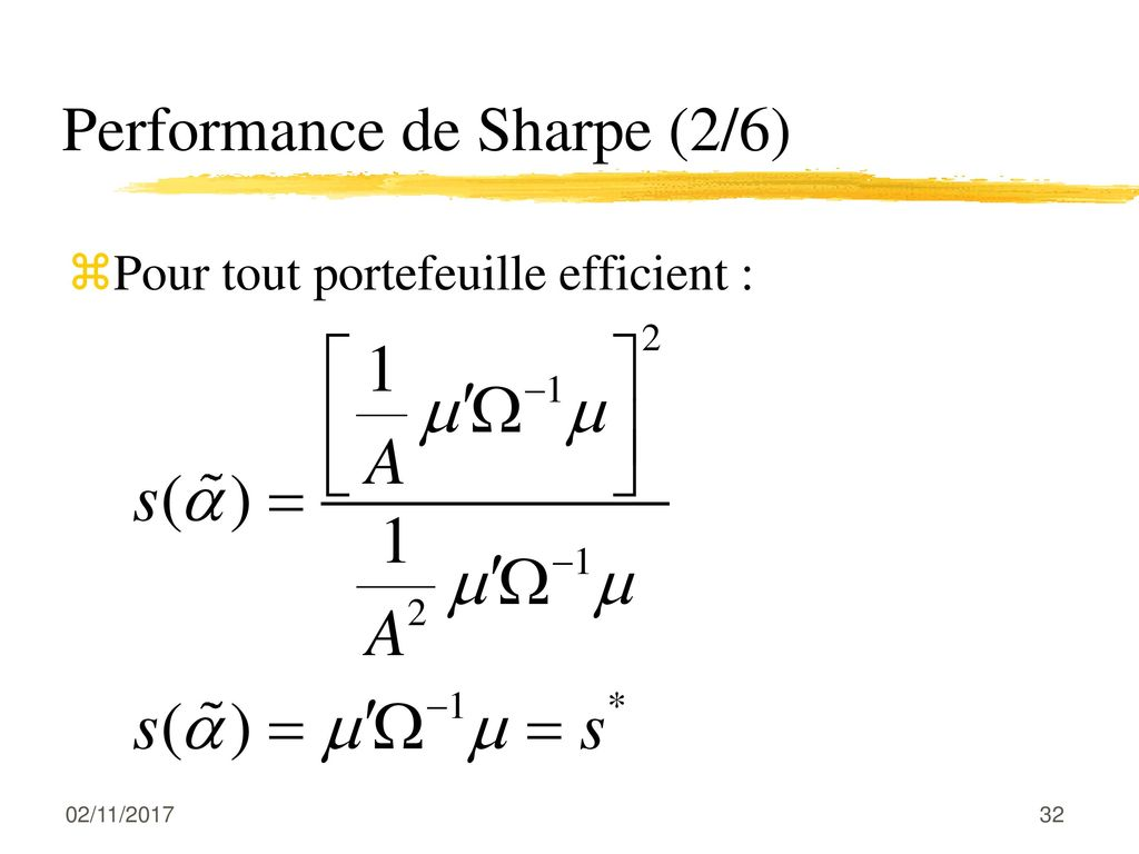 Performance de Sharpe (2/6)