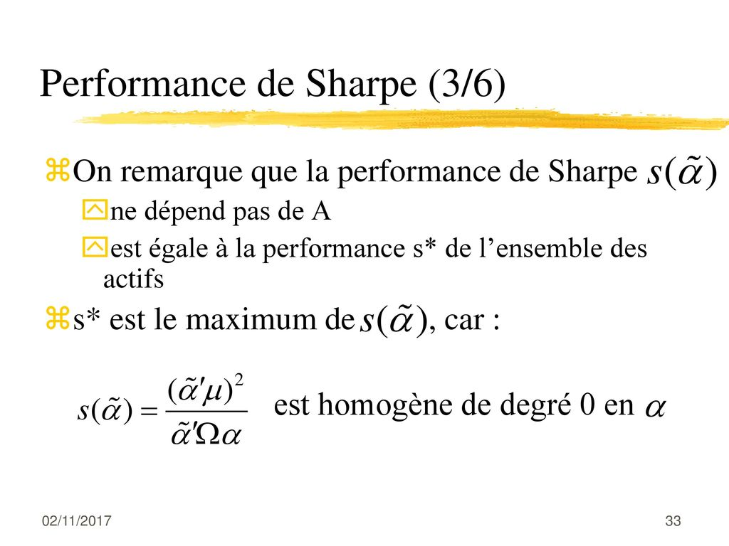 Performance de Sharpe (3/6)