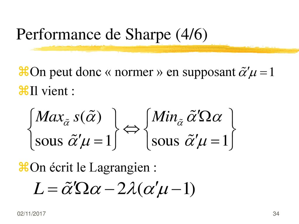 Performance de Sharpe (4/6)