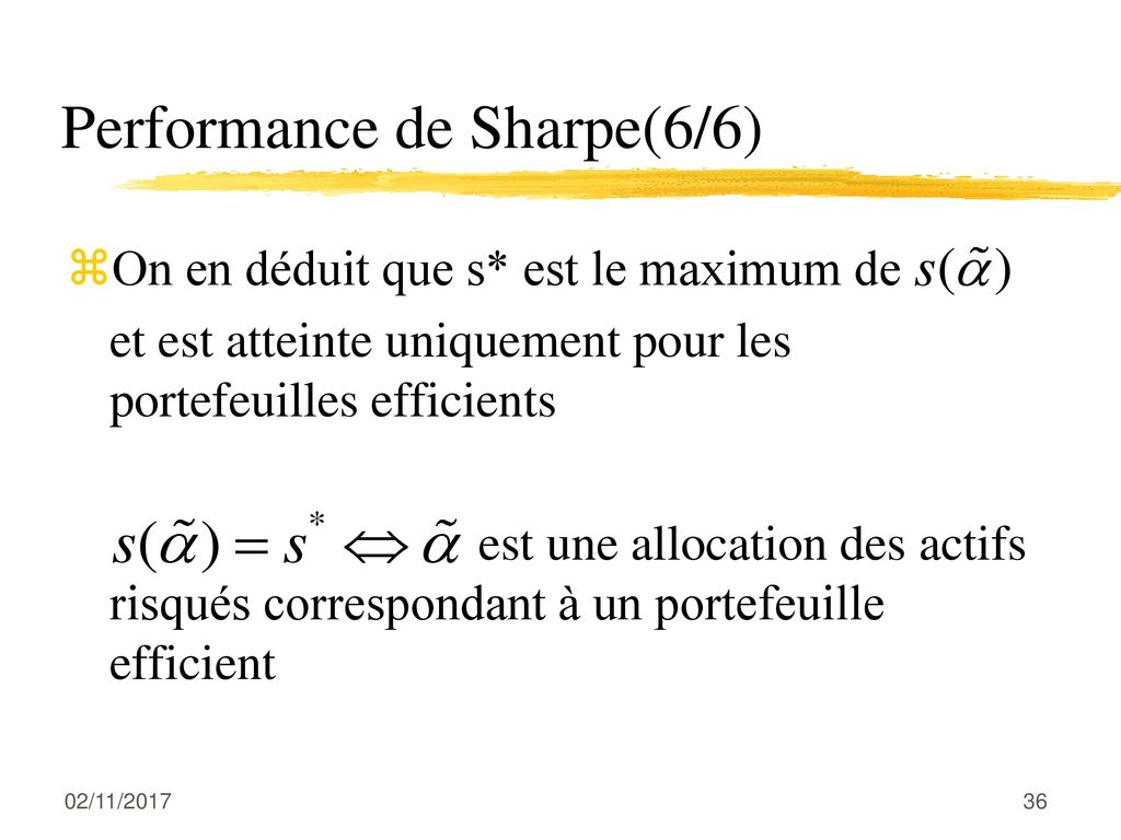 Performance de Sharpe(6/6)