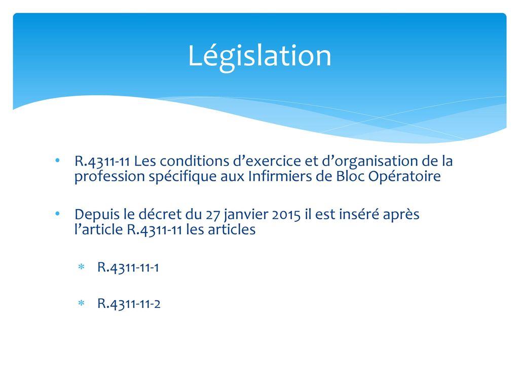 décret bloc opératoire