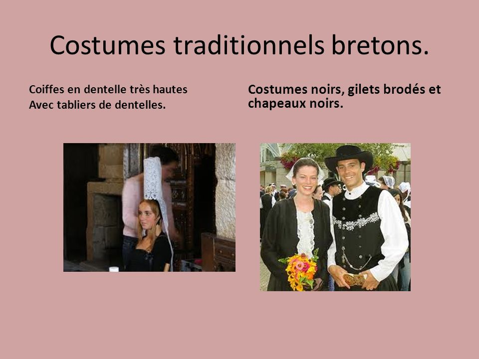 Costumes traditionnels bretons.