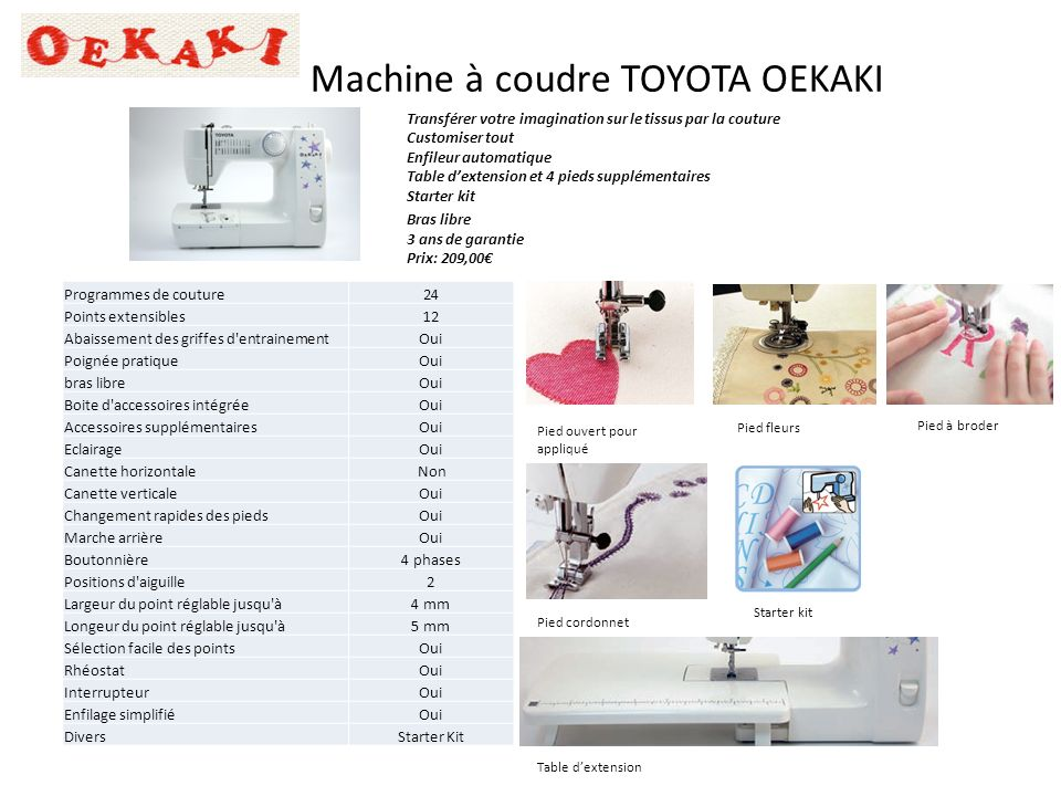 machines coudre toyota pour mondial textiles ppt video. Black Bedroom Furniture Sets. Home Design Ideas