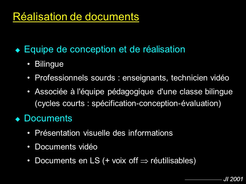 Réalisation de documents