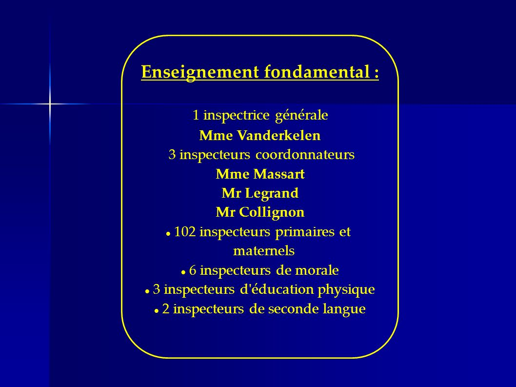 Enseignement fondamental :