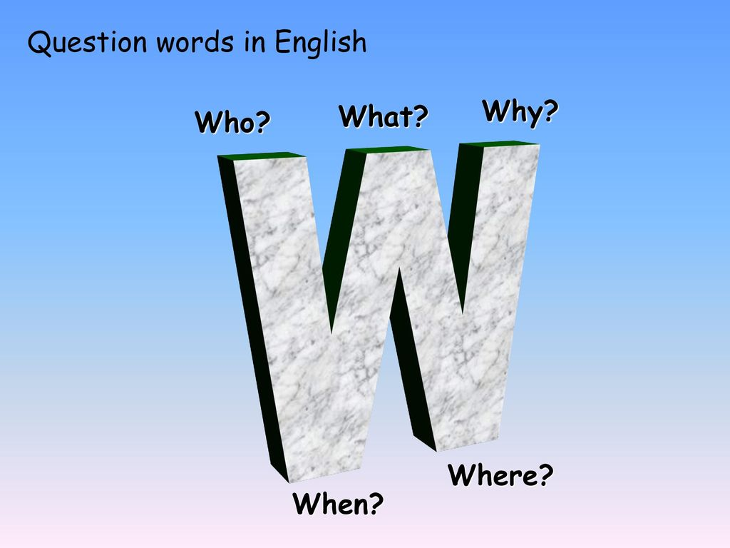 Question words in English
