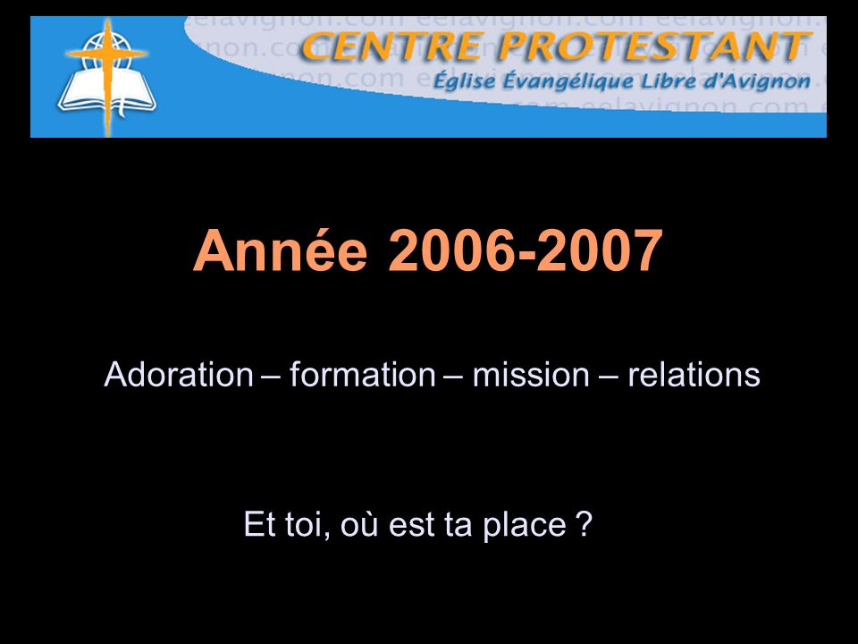 Adoration – formation – mission – relations