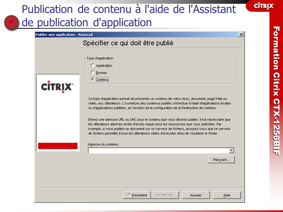Publication de contenu à l aide de l Assistant de publication d application