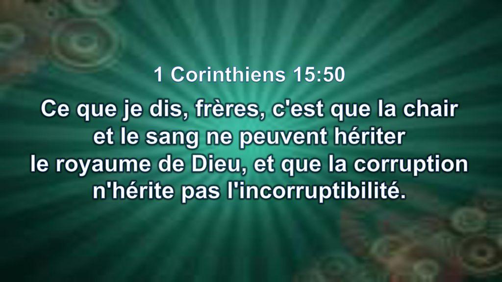Rencontres 1 Corinthiens 15